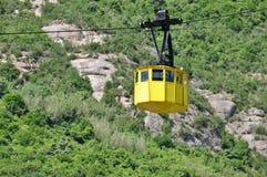 Montañas Montserrat del ferrocarril aéreo Fotografía de archivo libre de regalías