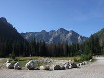 Montañas Morskie Oko de Tatra Imagenes de archivo