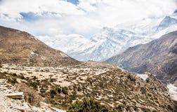 Montañas, Nepal Fotos de archivo libres de regalías