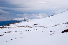 Montañas nevadas en la pista de Kepler Foto de archivo