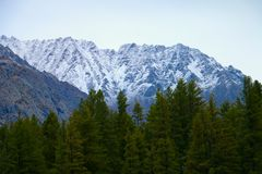 Montañas nevadas en Paquistán Foto de archivo