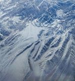 Montañas Nevado aéreas Foto de archivo