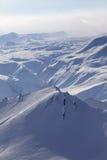 Montañas Nevado en calina imagen de archivo libre de regalías
