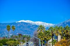 Montañas nevosas de Los Ángeles Fotos de archivo libres de regalías