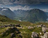 Montañas noruegas Imagen de archivo