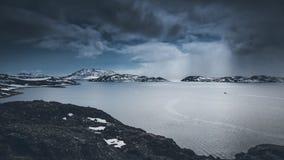 Montañas Nuuk, Groenlandia En mayo de 2014 Fotos de archivo libres de regalías