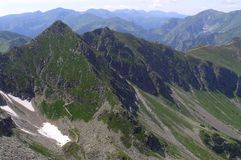 Montañas occidentales de Tatra Fotografía de archivo libre de regalías