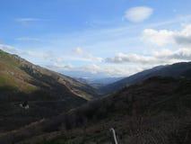 Montañas panorama, Provence, Francia de Ardèche Fotos de archivo libres de regalías
