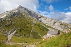 Montañas - pico de Watzmann de Watzmannhaus Imagenes de archivo