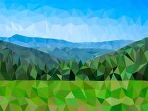 Montañas polivinílicas bajas del vector Foto de archivo libre de regalías