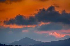Montañas profundas de Asia Fotos de archivo