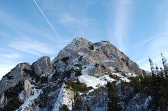 Montañas Ridge en invierno Fotos de archivo