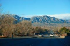 Montañas Roadtrip Imagen de archivo libre de regalías