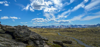 Montañas rocosas Fotos de archivo