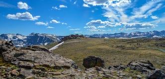 Montañas rocosas asombrosas Foto de archivo libre de regalías