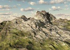 Montañas rocosas y valle Fotos de archivo