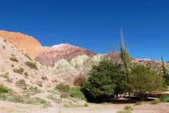 Montañas rojas y anaranjadas del color Foto de archivo libre de regalías