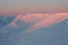 Montañas rosadas imagen de archivo