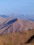 Montañas rosadas foto de archivo libre de regalías