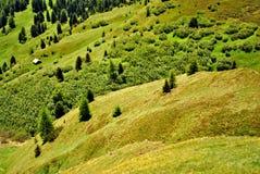 Montañas Saas Pordoi Foto de archivo libre de regalías