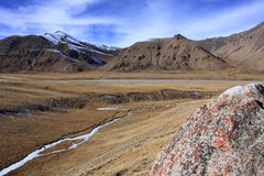 Montañas salvajes de Kirguistán Fotografía de archivo libre de regalías