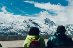 Montañas suizas cerca de Muren, Suiza Imágenes de archivo libres de regalías