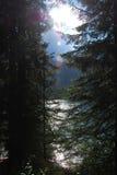 Montañas suizas en verano Fotos de archivo libres de regalías