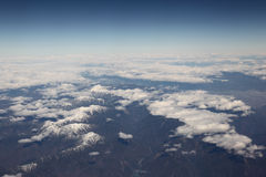 Montañas superiores de la nieve Imagen de archivo