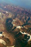 Montañas superiores de la nieve Fotos de archivo libres de regalías