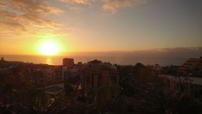 Montañas Tenerife de la puesta del sol Fotos de archivo libres de regalías