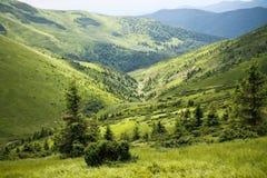 Montañas ucranianas Fotos de archivo libres de regalías