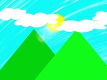 Montañas verdes Fotos de archivo libres de regalías
