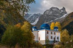 Montañas, viaje, naturaleza, lugar hermoso, mezquitas, iglesias imágenes de archivo libres de regalías