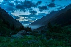 Montañas, viaje, naturaleza, lugar hermoso, nieve, hielo imagen de archivo