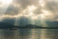 Montañas y agua Imagen de archivo
