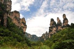 Montañas y barranca Imagen de archivo libre de regalías