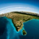 Montañas y cielo de la India stock de ilustración