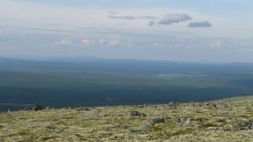 Montañas y cielo de la tundra en verano Fotografía de archivo