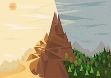 Montañas y clima ilustración del vector