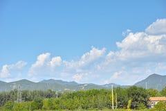 Montañas y el mar del crisantemo Foto de archivo libre de regalías