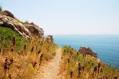 Montañas y el mar en Crimea Imagenes de archivo