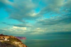 Montañas y el Mar Negro imágenes de archivo libres de regalías