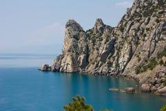 Montañas y el Mar Negro crimeos Imágenes de archivo libres de regalías