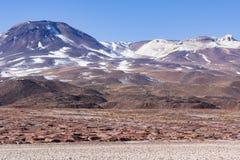 Montañas y formaciones de roca en reserva nacional de los flamencos del Los Fotos de archivo