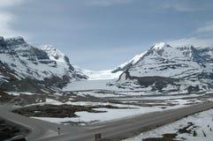 Montañas y glaciar americanos de NNorth Foto de archivo