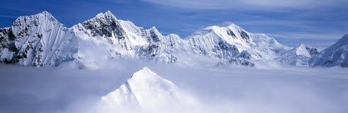Montañas y glaciares Foto de archivo