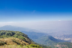 Montañas y horizonte Foto de archivo libre de regalías