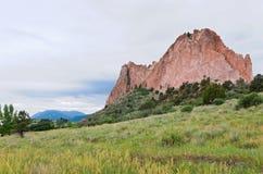 Montañas y llanos del monolito en Colorado Springs imágenes de archivo libres de regalías