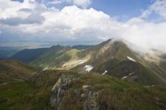 Montañas y nubes Imagen de archivo