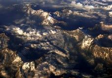 Montañas y nubes Fotos de archivo